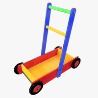 3d model kids wagon