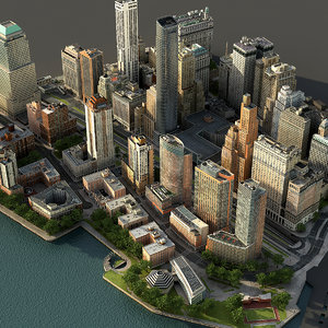 manhattan lower part01 3d max