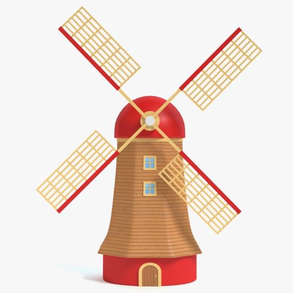cartoon windmill 3ds