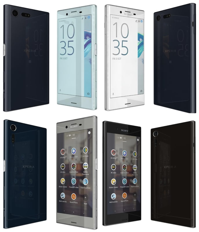 sony xperia x compact 3d model