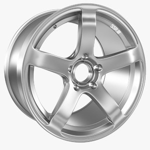 3d model of automobile rim