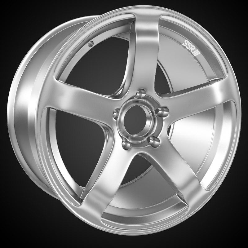 3d model of automobile rim