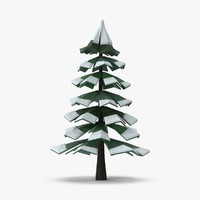 Snowy Pine 03 Low Poly