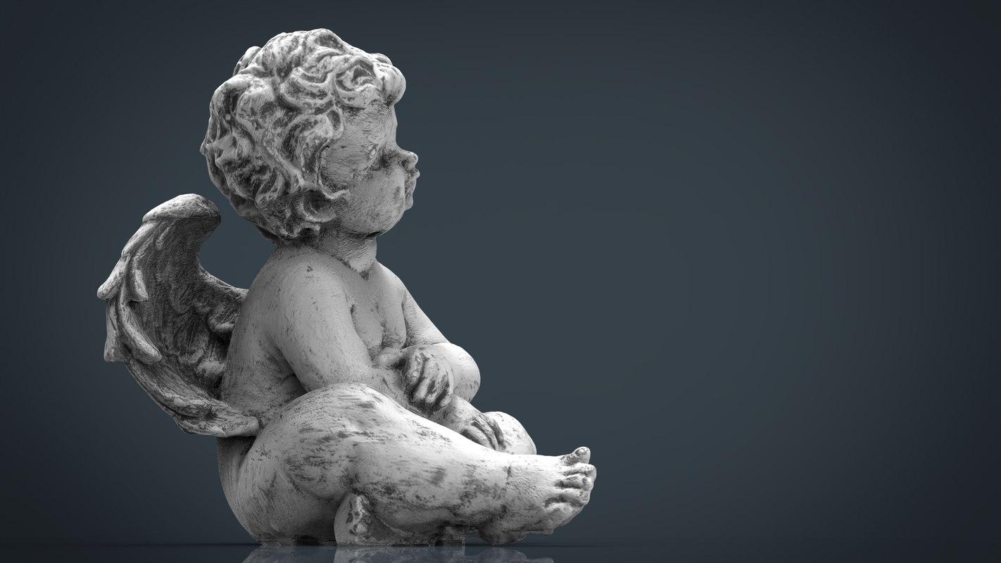 3d max angel stone