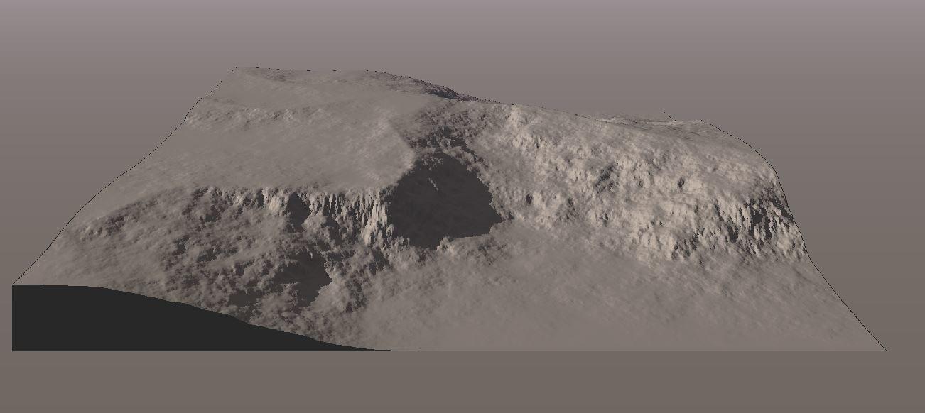 3ds terrain - moon