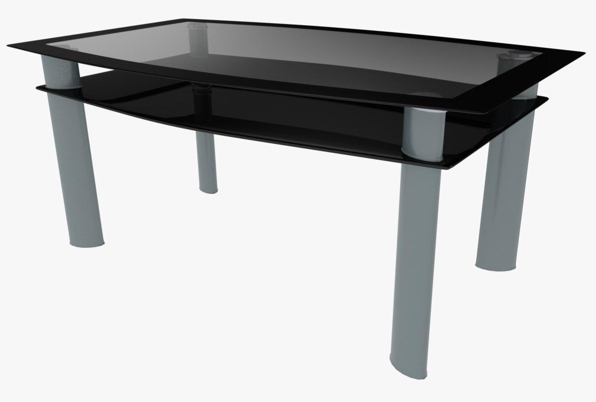 3d model modern table glass