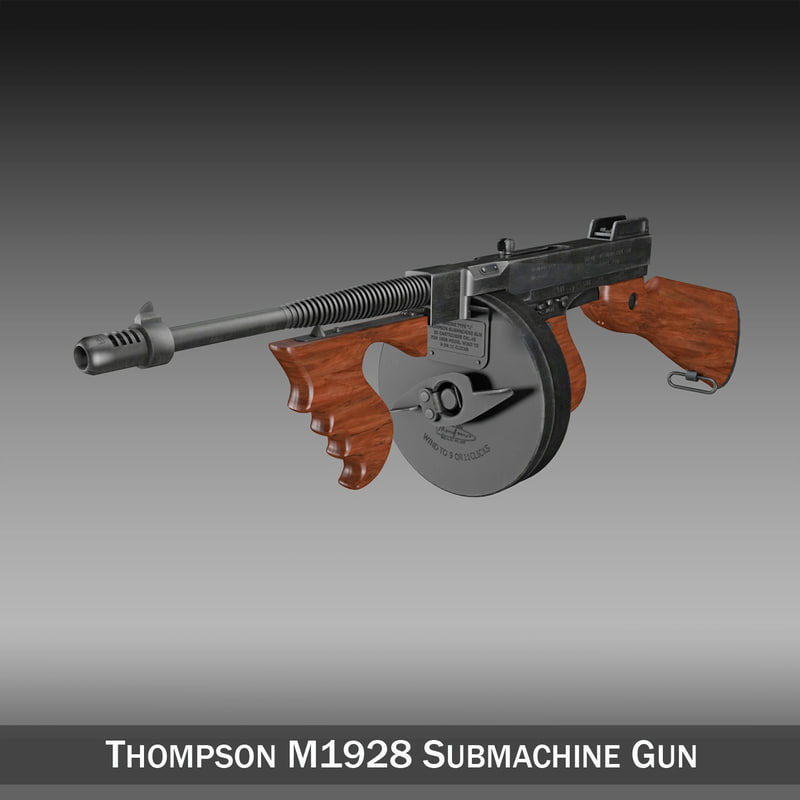 3d thompson modelled submachine gun