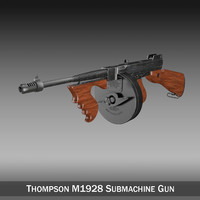 3d thompson modelled submachine gun