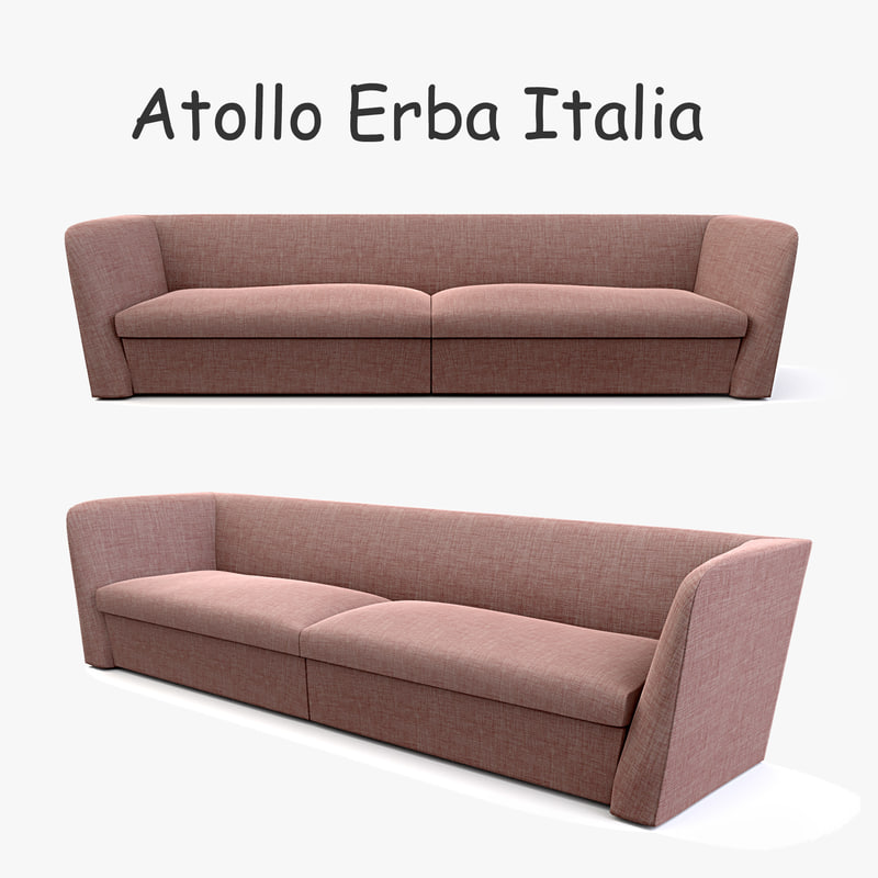 3d erba italia atollo modern sofa model