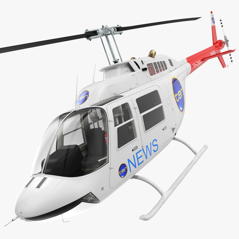 bell 206b jetranger iii 3d model