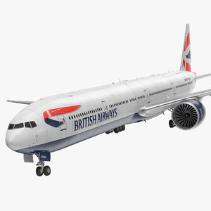 3d boeing 777-9x british airways