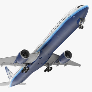 boeing 777-9x united airlines 3d model