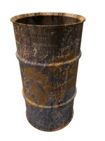 old metal barrel