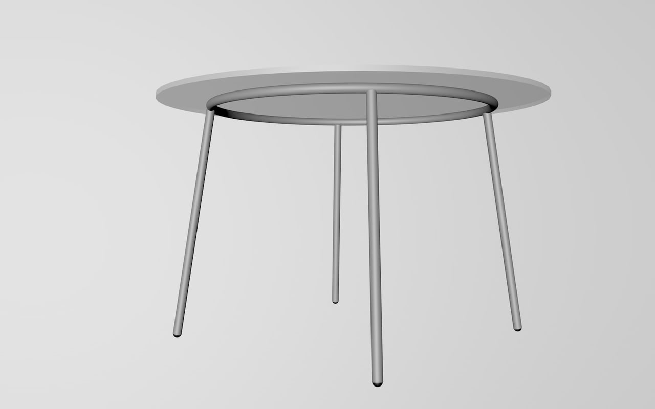 3ds furnishings table glass