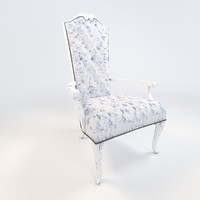 3d model of dining armchair