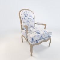 3d montespan armchair