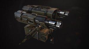 portable turret 3d x
