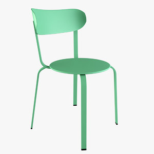 metal chair 3ds