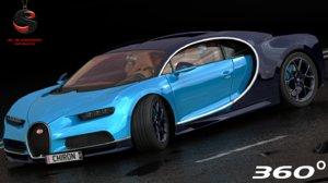 bugatti chiron 3d model