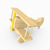 3d kids toy wooden model