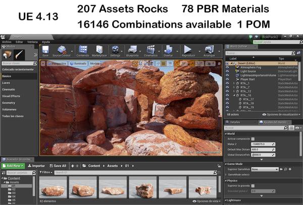 3d assets rocks