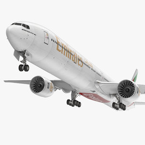 3d model boeing 777-9x emirates airlines