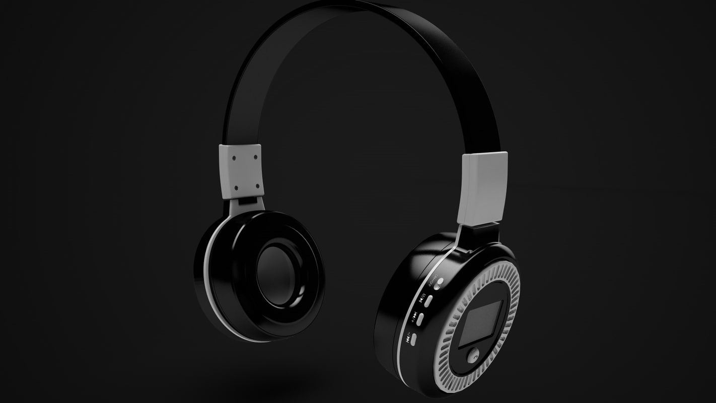 wireless headphone 3d c4d