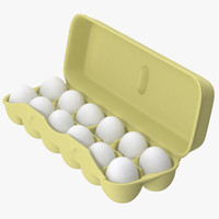 egg container 02 open 3d model