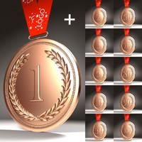 medals 1 5 3d model