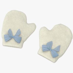 3d newborn mittens 03 blue