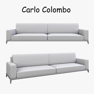 carlo colombo modern sofa 3d model
