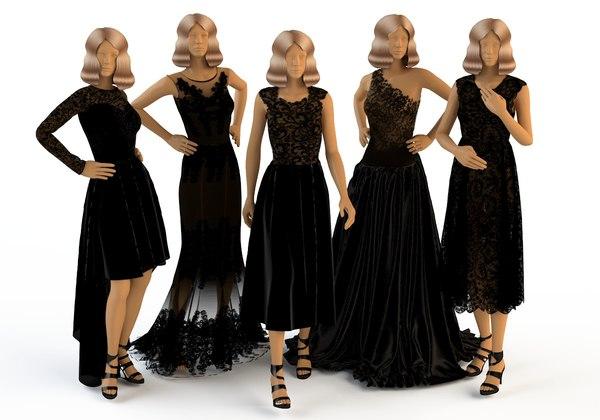 hani-tabib wedding dresses 3d model