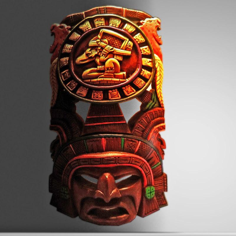3d aztec mask model