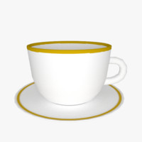 free blend model plate coffe cup