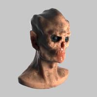 3d daemons head