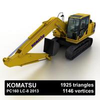 2013 komatsu pc160 lc-8 3d model