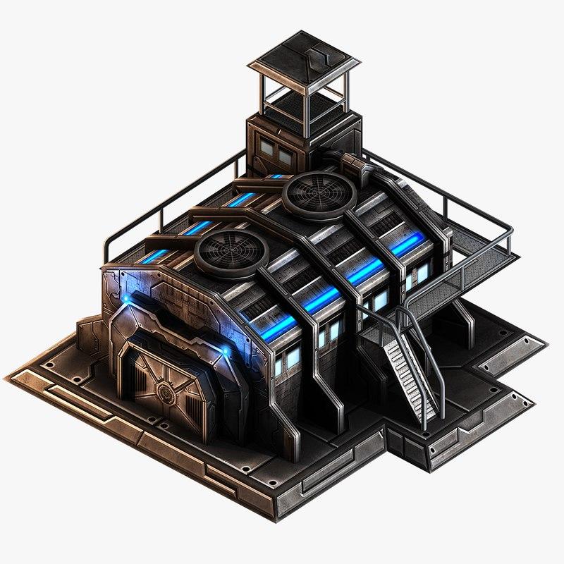 3d ready barracks model