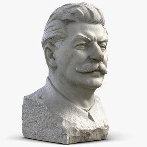 3d joseph stalin bust