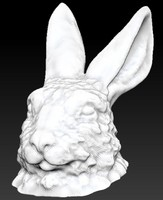 rabbit head 3d model