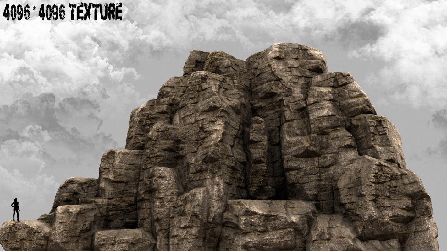 obj rock mount mountain