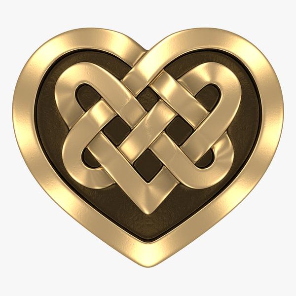celtic heart 3d max