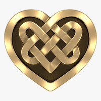 celtic heart 3d max