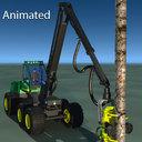 Feller Buncher 3D models