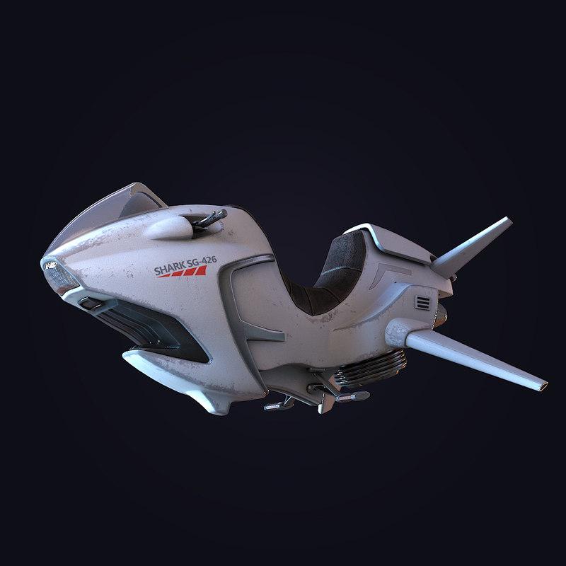 max sci-fi hover bike