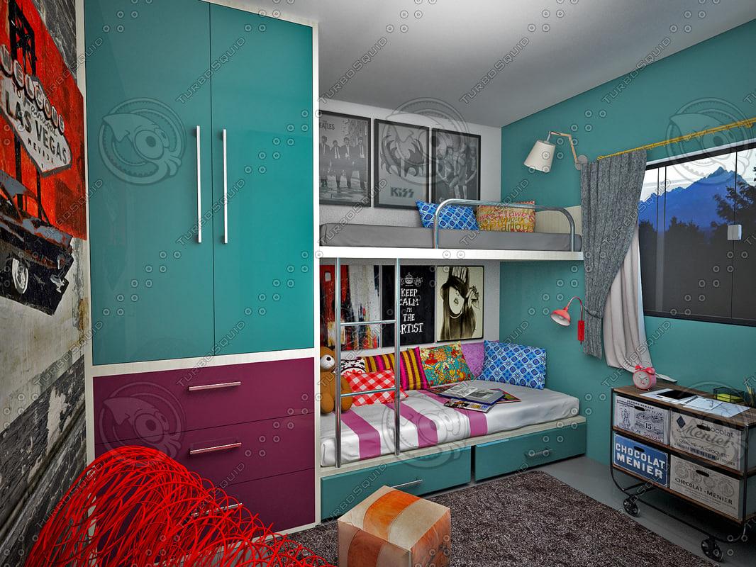 3ds bedroom