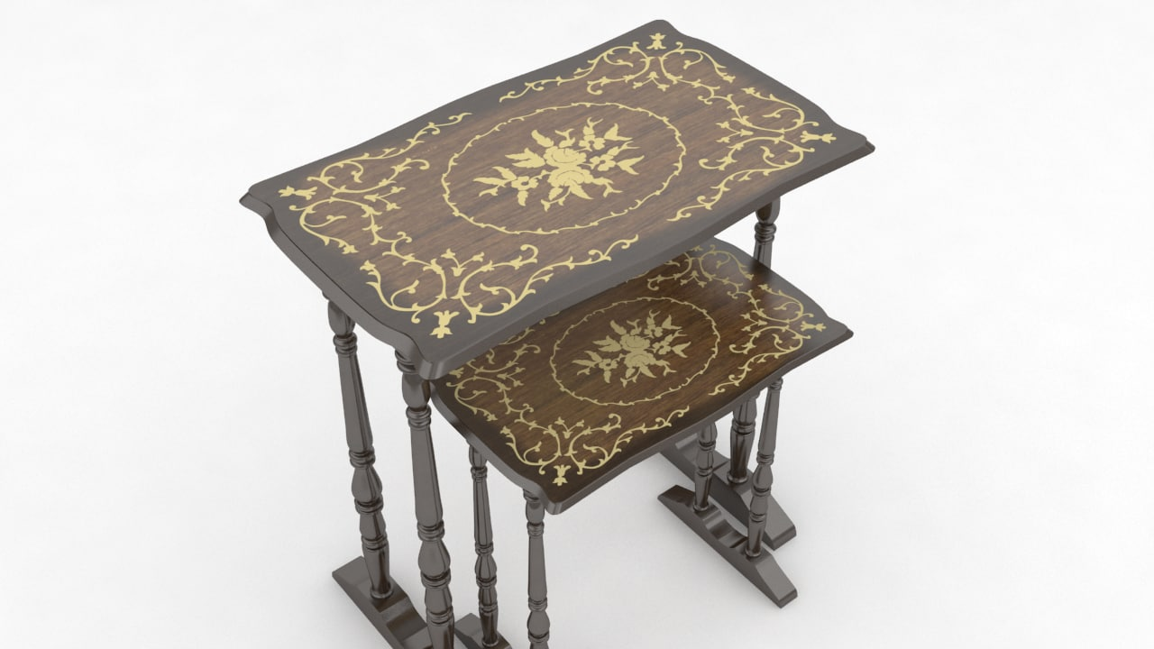 3d model old coffe table