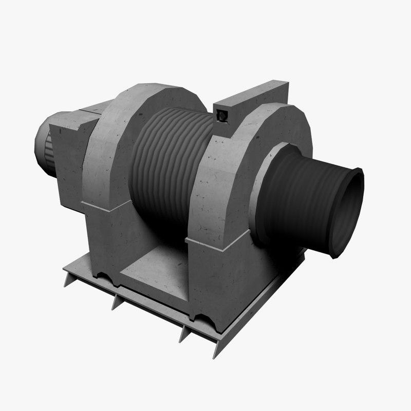 3d model of ship winch
