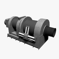 3d ship winch model