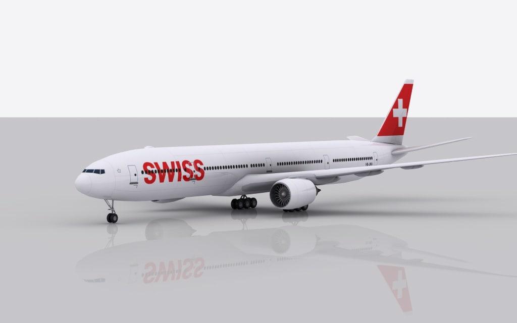 3d airplane boeing 777-300 er model