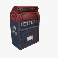 Old rusty U. S. Mail Post Box